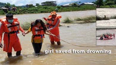 Photo of Arunachal: Young girl saved from drowning in Dikrong river