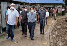 Photo of Itanagar: Techi Kaso inspects under construction CC road cum drain at C1 sector