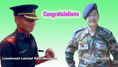 Photo of Arunachal: Khandu congratulates Arunachalee army officers Major Tero Keyang and Lieutenant Laichat Paul Wangpan
