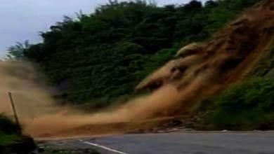 Photo of Arunachal: Massive landslide blocks Naharlagun-Yupia road