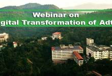 "Photo of Assam: Webinar on ""Digital Transformation of AdtU"""