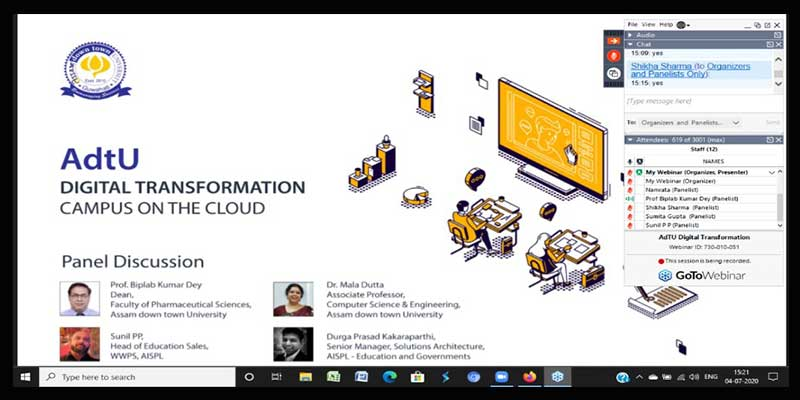Assam down town University(AdtU) collaborates with  AWS (Amazon Web Services Campus)