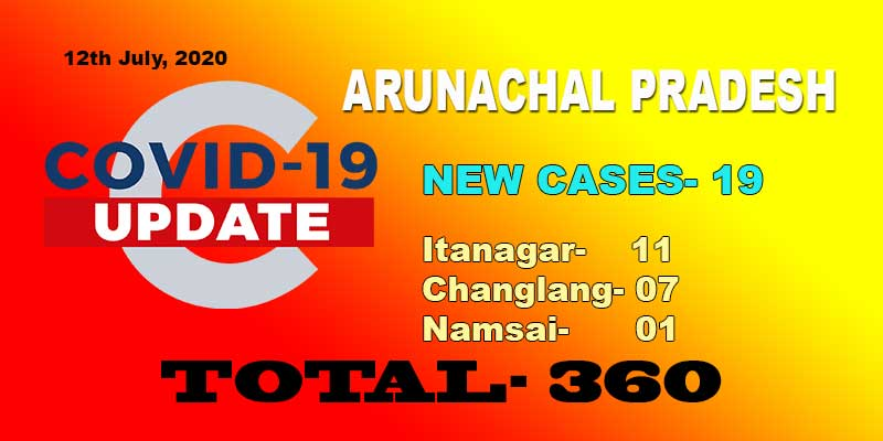 Arunachal reports 19 fresh COVID-19 cases including health care workers