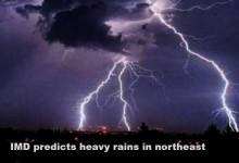 IMD predicts heavy rains in northeast
