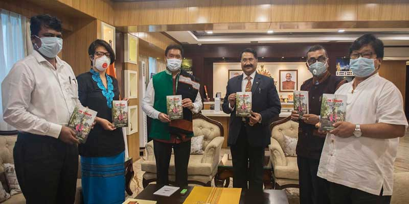 """Pema Khandu releases book """" The Tangams: An Ethnolinguistic Study Of The Critically Endangered Group of Arunachal Pradesh"""""""