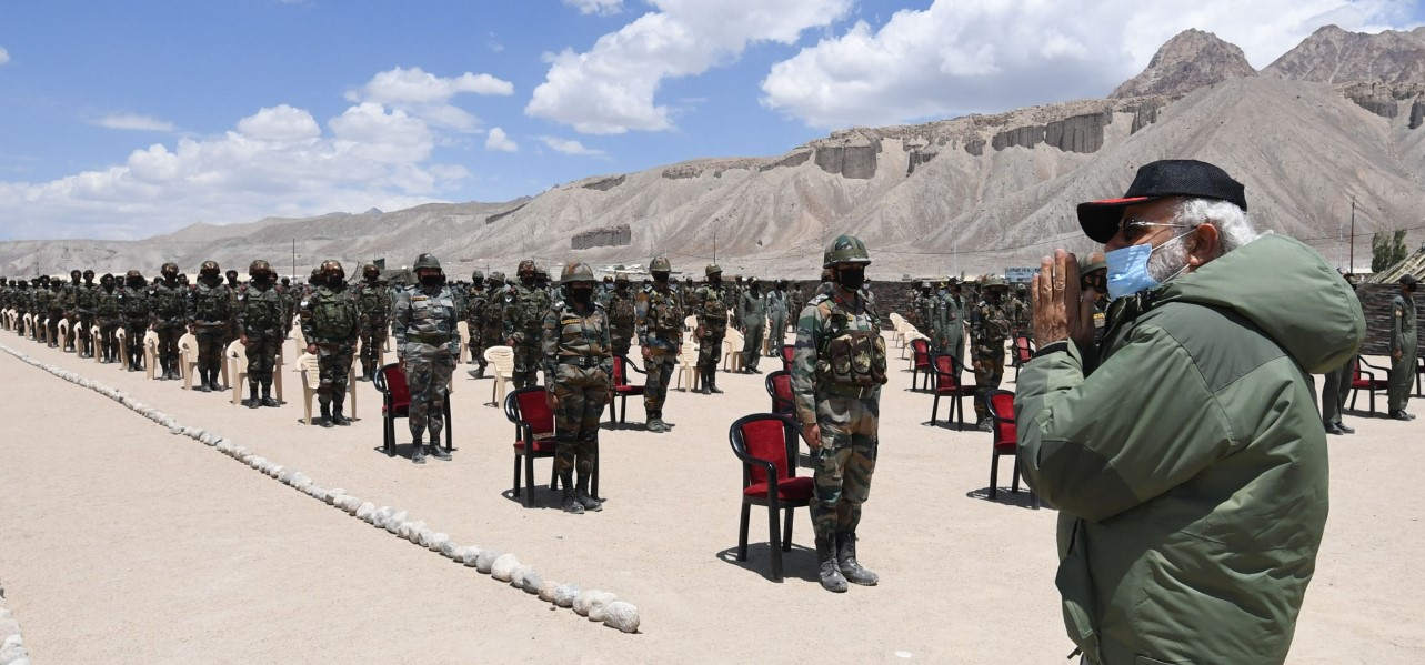 PM Modi visits Nimu in Ladakh, interact with Indian troops