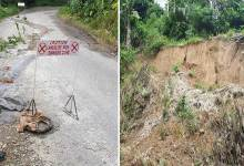 Photo of Itanagar: Road leading towards Upper Vivek Vihar is on the verge of collapse