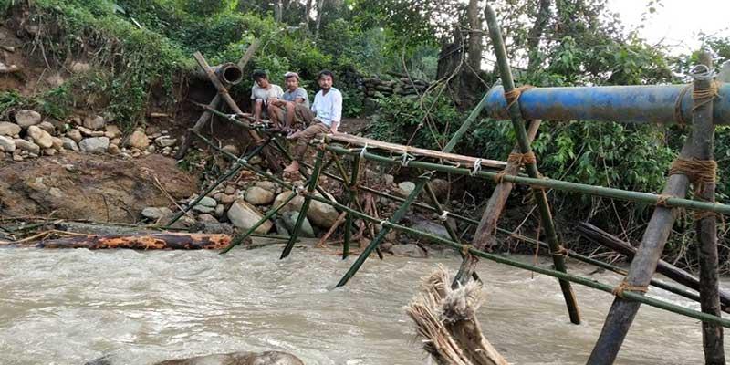 Arunachal: flash flooddamages Ledum Water Supply Project
