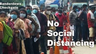 Arunachal: Huge rush of returnees witness at Banderdewa checkgate