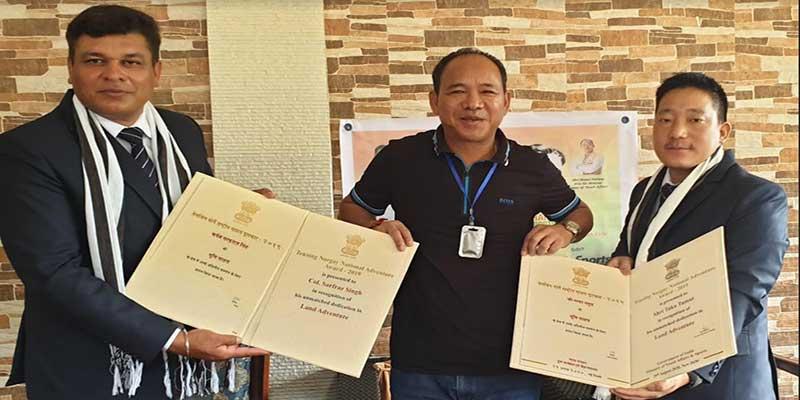 Arunachal: Natung felicitates Col. Sarfraz and Taka Tamut