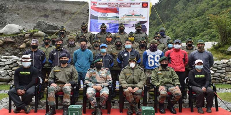Arunachal: Army promotes National Integration and Adventure Tourism on Independence Day at Gorichen Peak Base