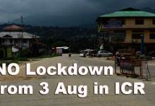 Arunachal: NO Lockdown from Aug 3 in Itanagar Capital Region