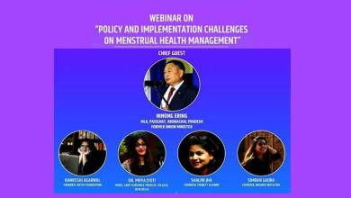 Photo of Webinar on policy challenges on menstrual health management