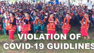 Photo of Arunachal: Mass Violation of Covid-19 guidelines during National Labours Day celebration by BMS in Pasighat
