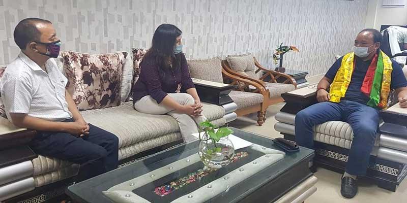 Arunachal: Anshu Jamsenpa calls on Youth Affairs & Sports Minister Mama Natung