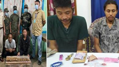 Photo of Arunachal: Drug peddlers apprehended in Changlang, Opium, Brown Sgar recovered