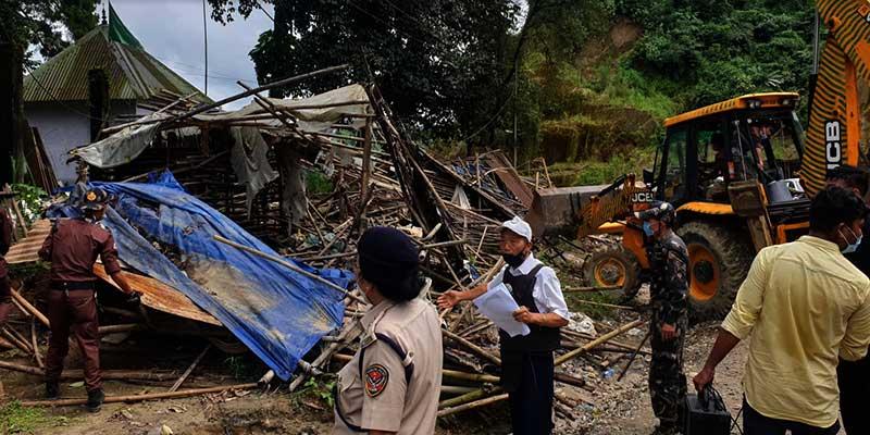 Itanagar: Eviction drive on NH-415, vegetable sheds demolished, 18 vendors apprehended