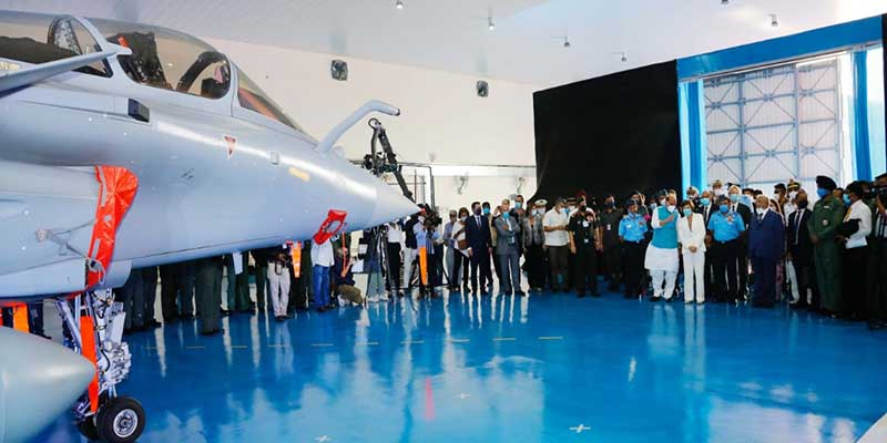 Ambala: Rafale Fighter Aircraft formally inducted into Indian Air Force