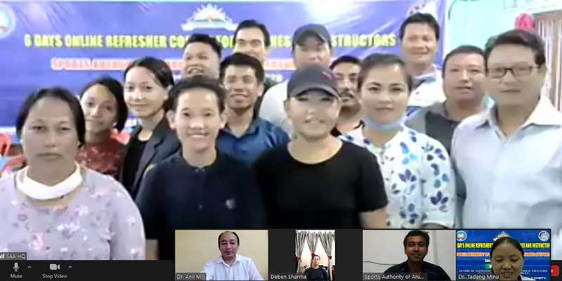 "Arunachal: Six Day Refresher Course for ""Coaches and Instructors of Sports Authority of Arunachal and Directorate of Sports"" concludes"