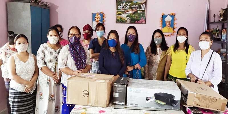 Arunachal: Women officiers donates Computer to Govt Upper Primary School, Yupia