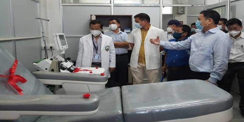 Arunachal: Alo Libang inaugurates Apheresis Machine in TRIHMS