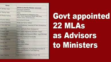 Photo of Arunachal Pradesh Govt appoints 22 MLAs as Advisors to Ministers