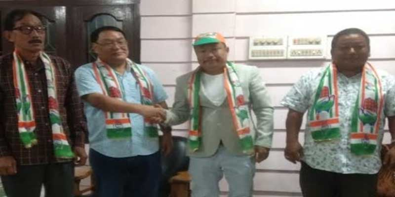 2019 PPA MP candidate Mongol Yomso from East Arunachal joins INC