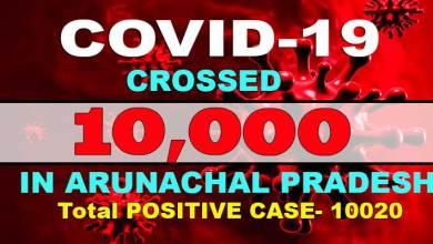 Photo of Covid-19 cases in Arunachal Pradesh cross 10,000 mark