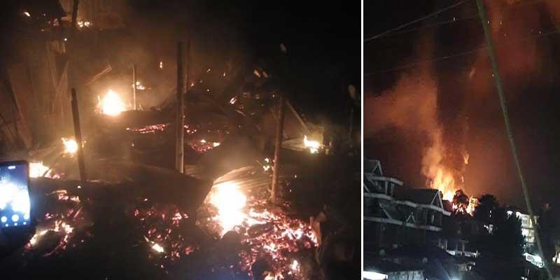 Arunachal: Two houses gutted, 5 LPG cylinder blast in Nirjuli Fire