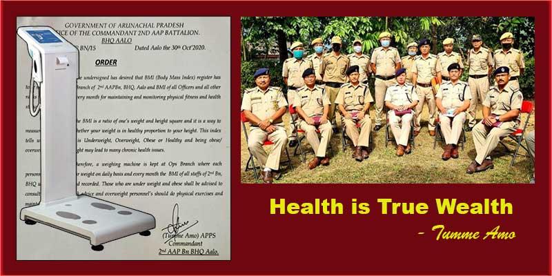 Arunachal: Health is True Wealth- Tumme Amo