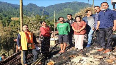 Itanagar: BJP leaders appeal Admin to provide relief to Nyokum Lapang's fire victims