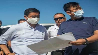 Arunachal: Pema Khandu inspects Hollongi Greenfield Airport Construction site
