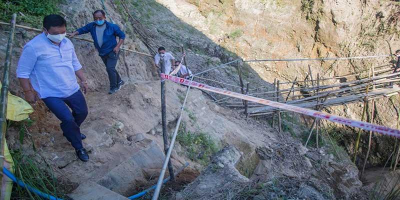 Itanagar: Pema Khandu inspects Itanagar-Pappu Nallah road via Jullang