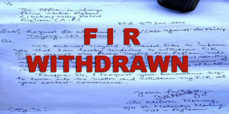 Arunachal: FIR withdrawn after apology by SDO