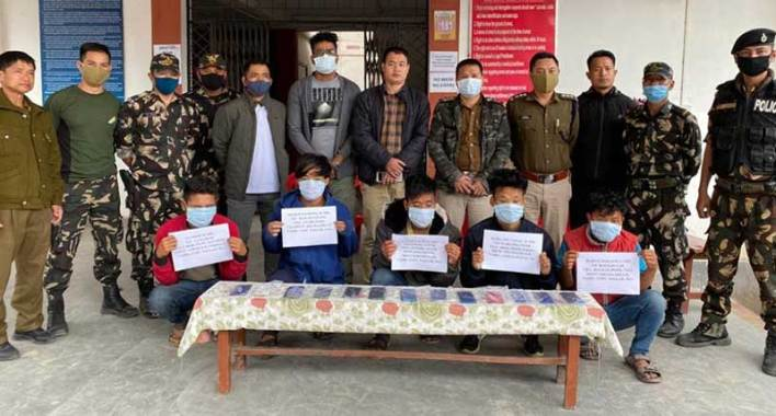 Itanagar:Five cell phone snatchers held by Capital police