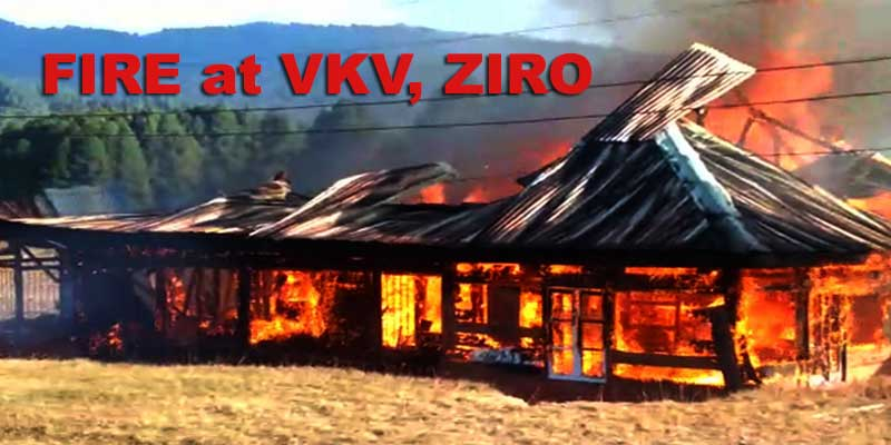 Arunachal: VKV's Principal residence gutted in a fire at Ziro