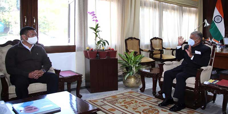 Arunachal:Chief Minister calls on the Governor