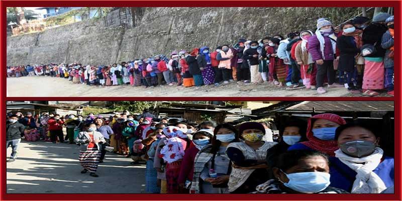Panchayat and Municipal Polls: Voters' long queue mirrors Arunachal's democratic spirit