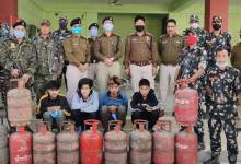 Itanagar: Capital Police arrested 4 LPG Cylinder thieves, recovered 11 stolen cylinders