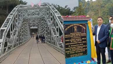 Arunachal: Alo Libang inaugurates steel arch bridge over river Yamne at Parak