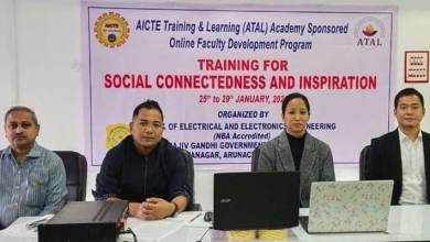 Itanagar- five days faculty development programme begins