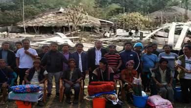 Arunachal:AdiSU distributes relief materials to fire victims of Bingung village in Siang