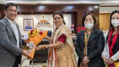 Arunachal:NCW Member Call On CM Pema Khandu