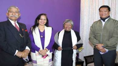 Arunachal Governor meets Khathing family members