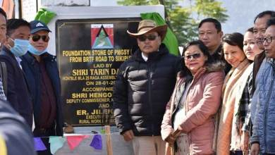 Arunachal: Tarin Dakpe lays foundation stone of PMGSY Road from BRTF road to Sekiputo