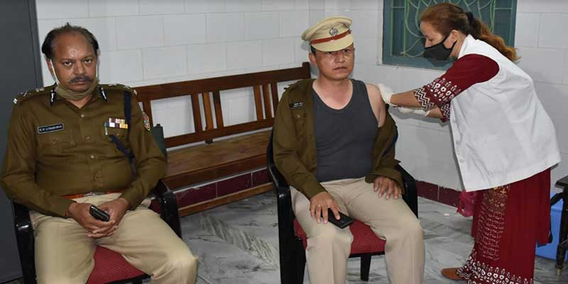 Arunachal DGP gets COVID Vaccine, appeals police personnel to come forward and get vaccinated