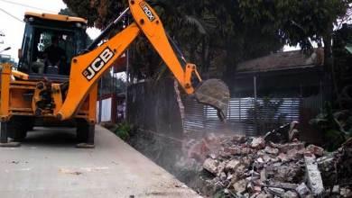 Itanagar: Eviction drive near Capital SP office