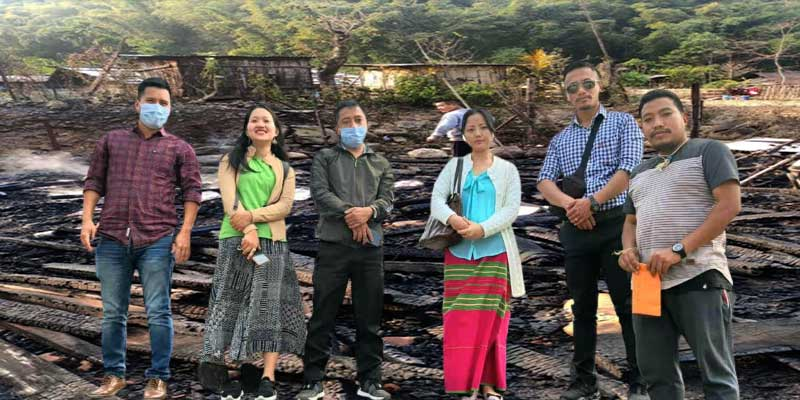Arunachal:AYOF extends financial supports to fire victims of JNC campus