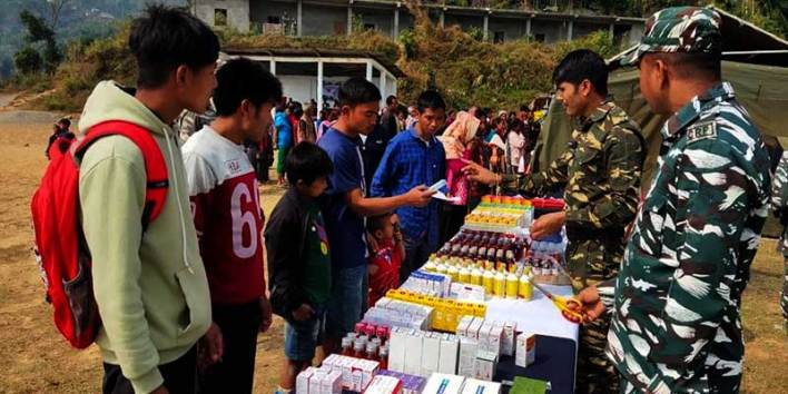 Arunachal:  36 Bn CRPF organises Medical camp at Pumao village