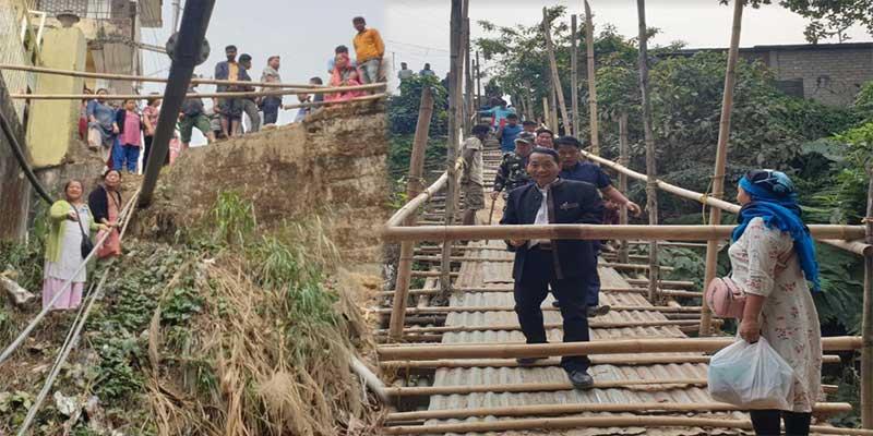 Itanagar: Locals demand temporary bamboo bridge near underpass